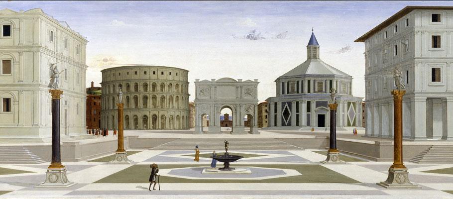 """Anonimo, """"La Città ideale"""", seconda metà del XV sec."""