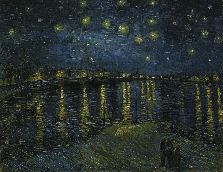 "Vincent van Gogh, ""Notte stellata sul Rodano"" , 1888"
