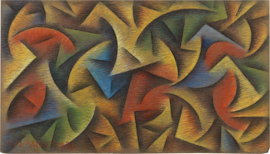 """Roberto Baldessari, """"Simultaneità di forze dinamiche"""" (1915)"""