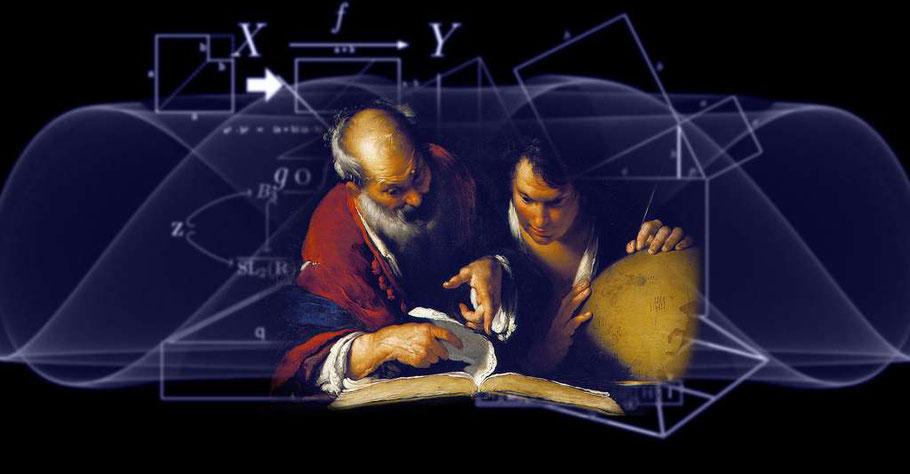"""B. Strozzi, """"Eratostene insegna ad Alessandria"""" (1635), modificato"""
