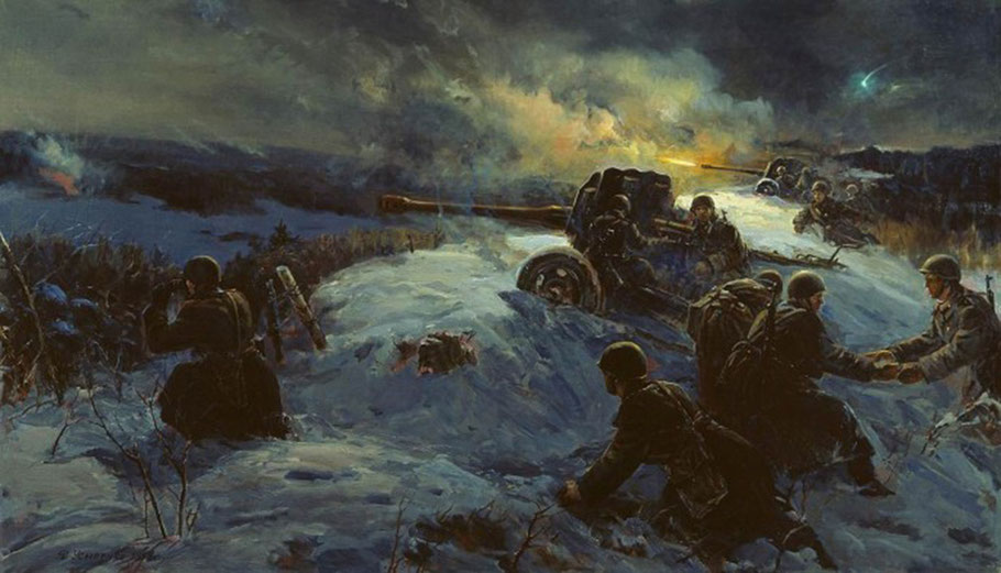 """F. Usypenko, """"Operazione notturna"""" (1958)"""