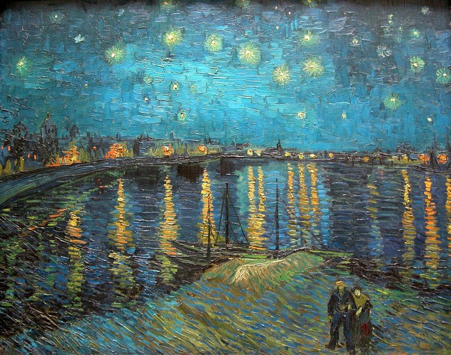 "Vincent Van Gogh, ""Notte stellata sul rodano"" (1888)"