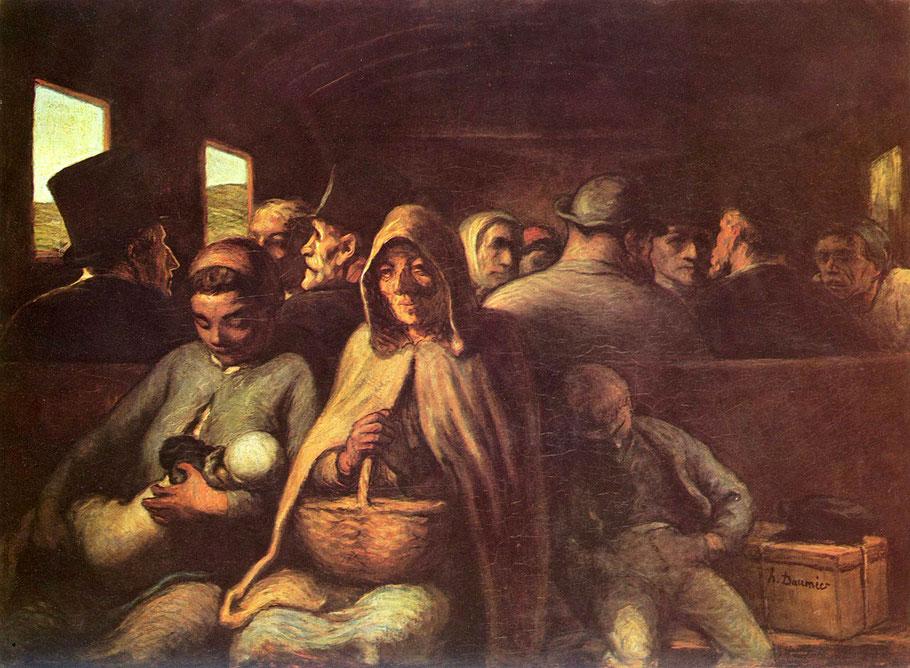 "Honoré Daumier, ""Il vagone di terza classe"" (1862- 1865)"