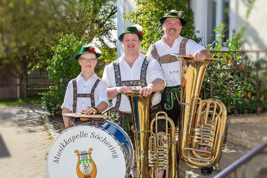 von links: Maximilian Pfluger, Leonhard Ressler, Rudi Ottl