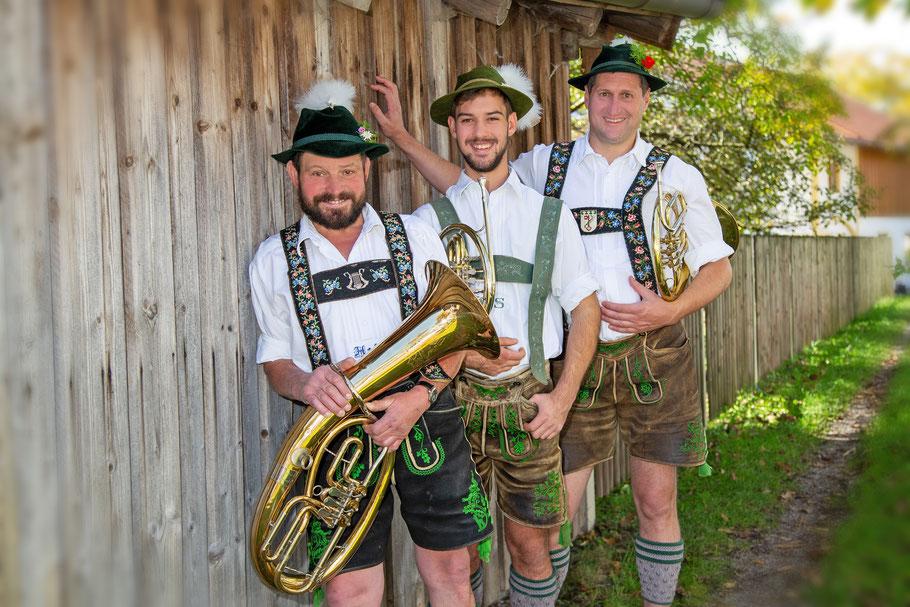 von links: Hans Eller, Martin Schröfele, nicht auf dem Bild:  Eugen Walser