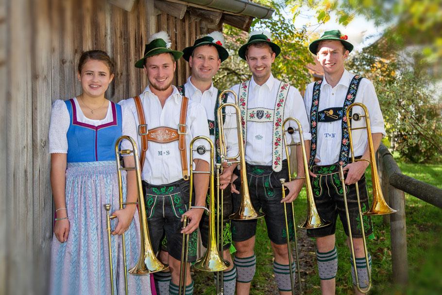 von links: Marlies Widmann, Markus Schröfele, Stefan Schröfele, Michael Soyer, Tobias Nebl