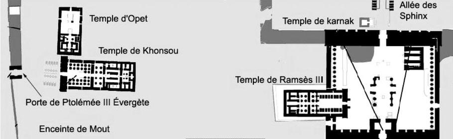 Karnak - Temples de Khonsou et d'Opet