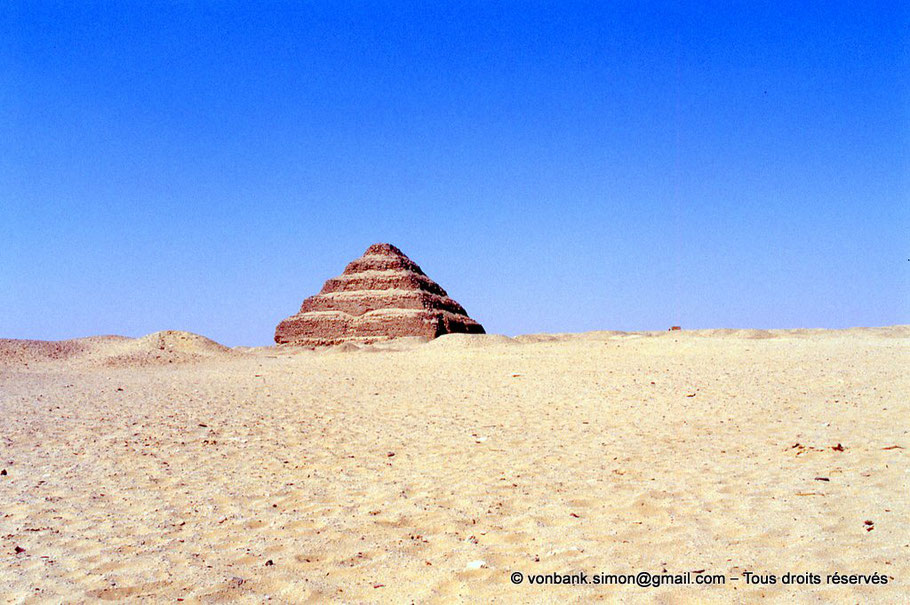 Saqqara : Pyramide à degrés de Djoser