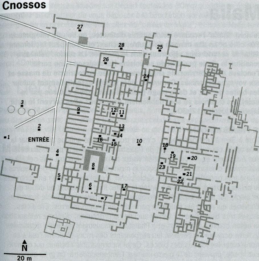 Cnossos (Crète) : Plan du Palais