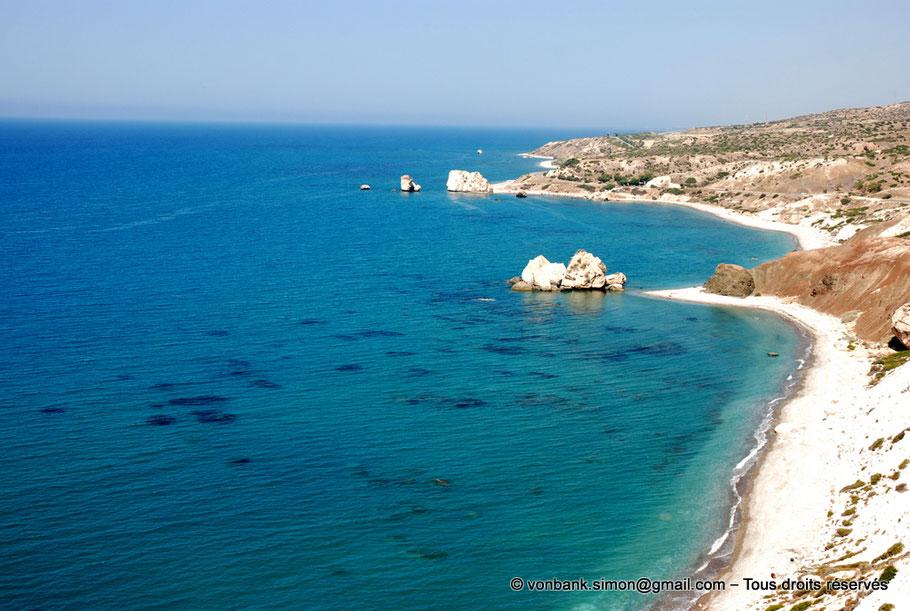 Paphos : Rivages du site Pétra tou Romiou - Chypre
