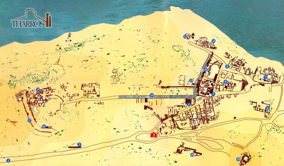 Tharros (Sardaigne) : Plan du site