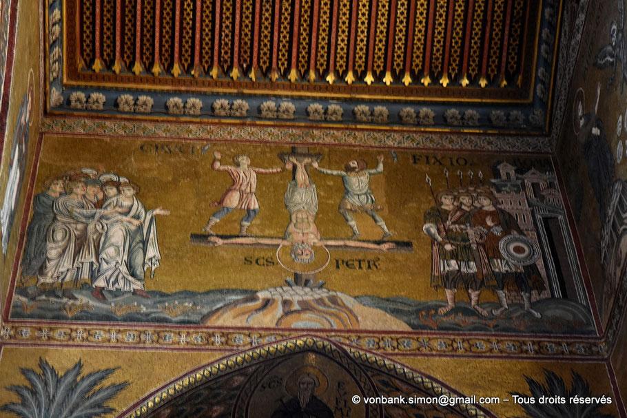 Santa Maria Nuova (Monreale) : Crucifiement de Saint Pierre (absidiole droite) - Sicile - Italie