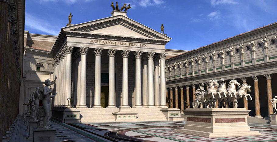 Rome - Forum d'Auguste : Restitution - Italie - Temple de Mars vengeur