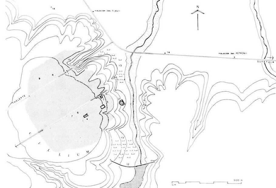 Kasserine (Cillium) : Plan du site
