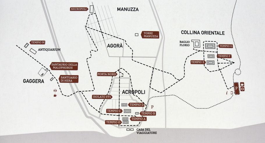 Sicile - Sélinonte : Plan du site archéologique