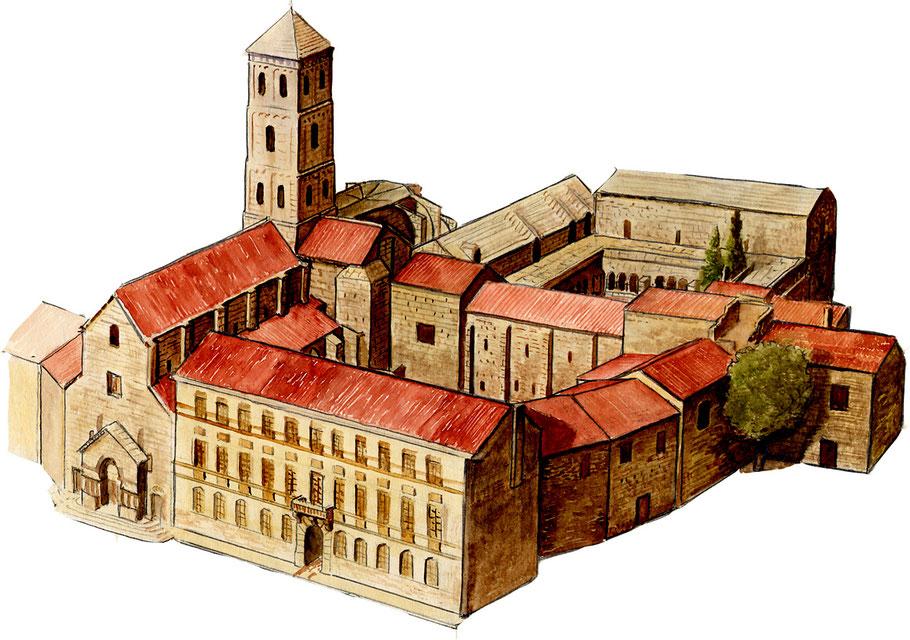 13 - Arles : Restitution de l'Ensemble Saint-Trophime (Primatiale, Palais épiscopal et Cloître) - Bouches-d_-Rhône - France
