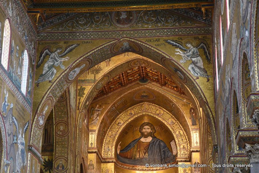Santa Maria Nuova (Monreale) : Christ-Pantokrator (abside centrale) - Sicile - Italie