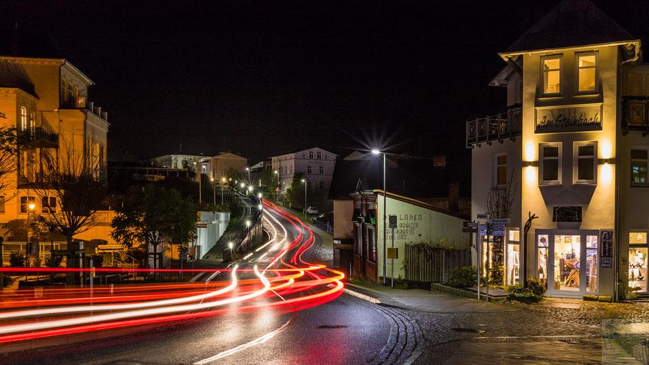 Bergstraße Sassnitz bei Nacht