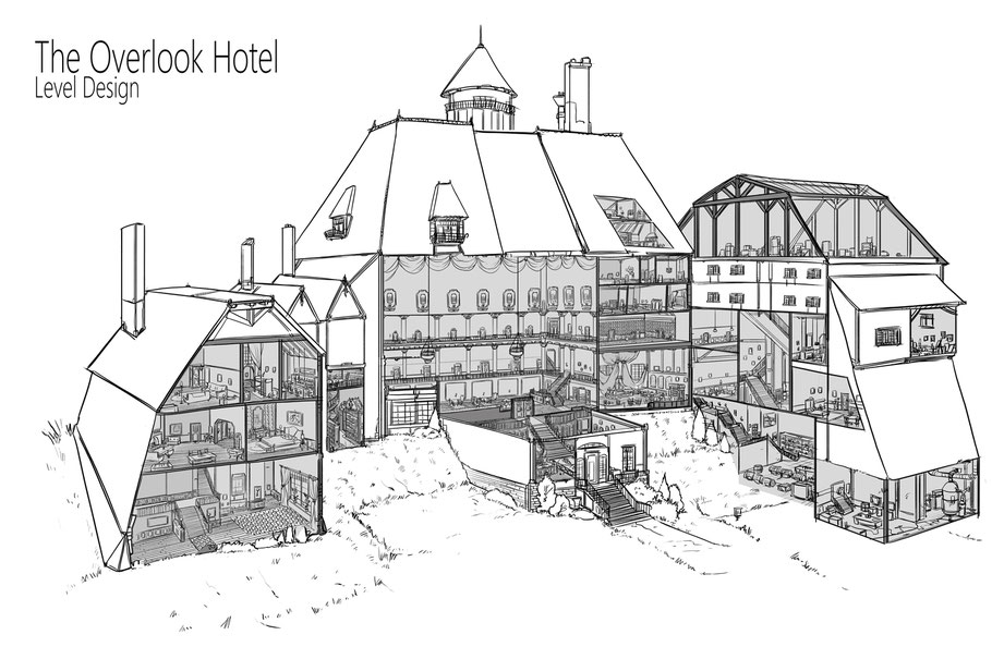 The Overlook Hotel in the movie Shinning personnal level design.
