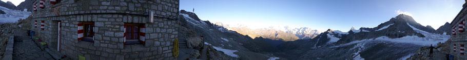 Panorama Rothornhütte mit Sebastian-3298m