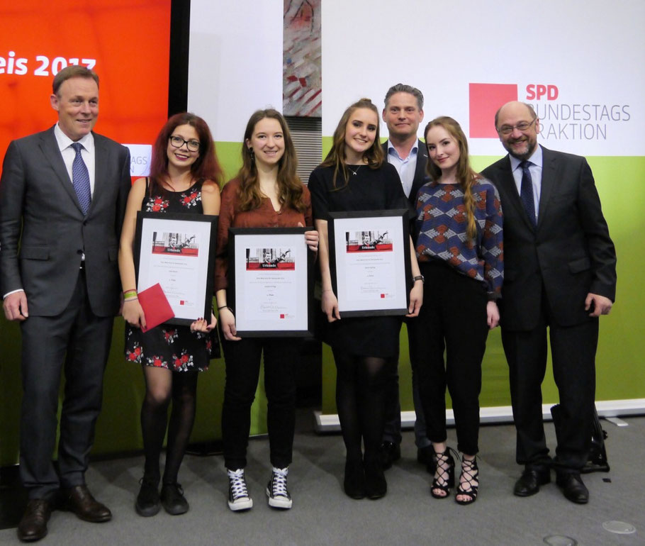 Thomas Oppermann, Jodie Mecke, Josephine Pöge, Selene Spreng, Stefan Zierke, Martin Schulz