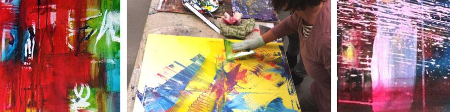 acrylmalerei heike renz und schüler