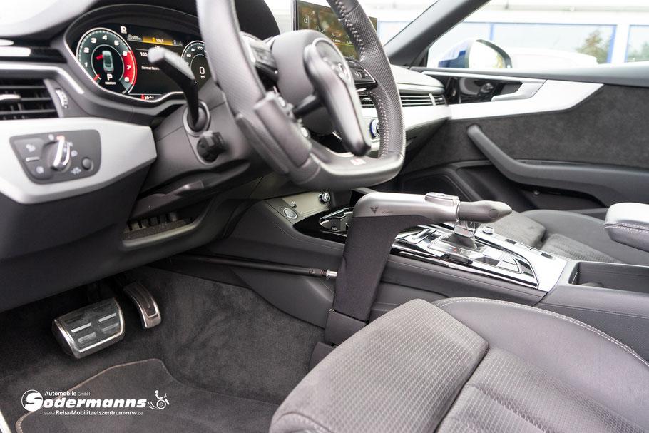 Veigel eClassic, Handgerät für Gas und Bremse, Dreh-Drück-Prinzip, Sodermanns