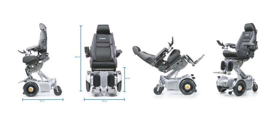 PR 50 Elektro-Rollstuhl Positionen Maße Sodermanns
