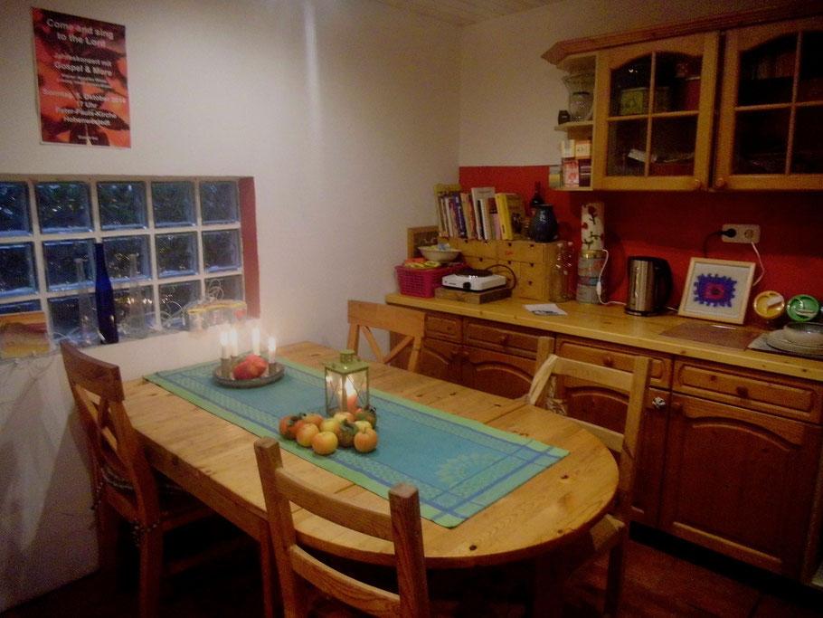 Die Küche für ein gemütliches Zusammensein