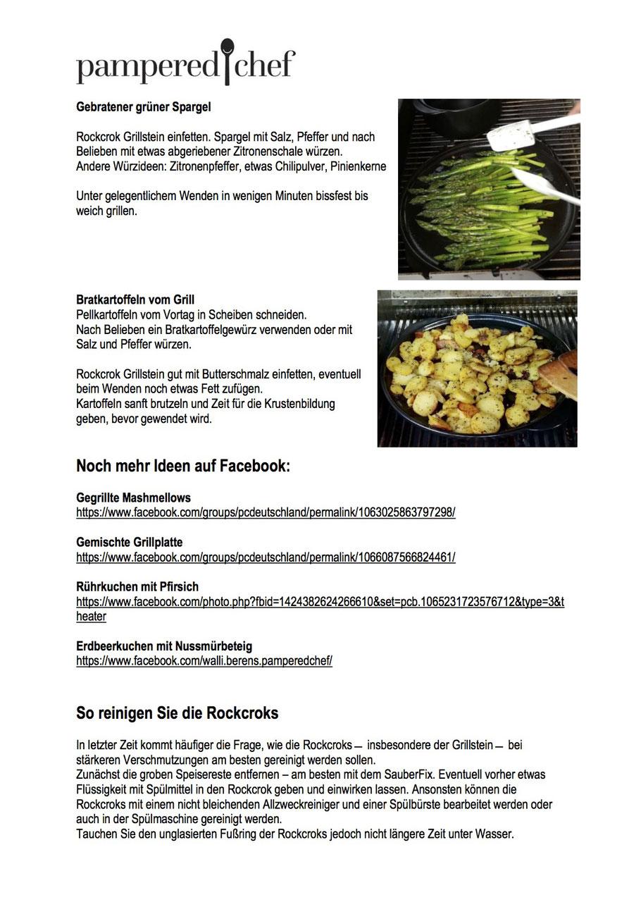 Information rund um das Grillen mit dem Pampered Chef Grillstein