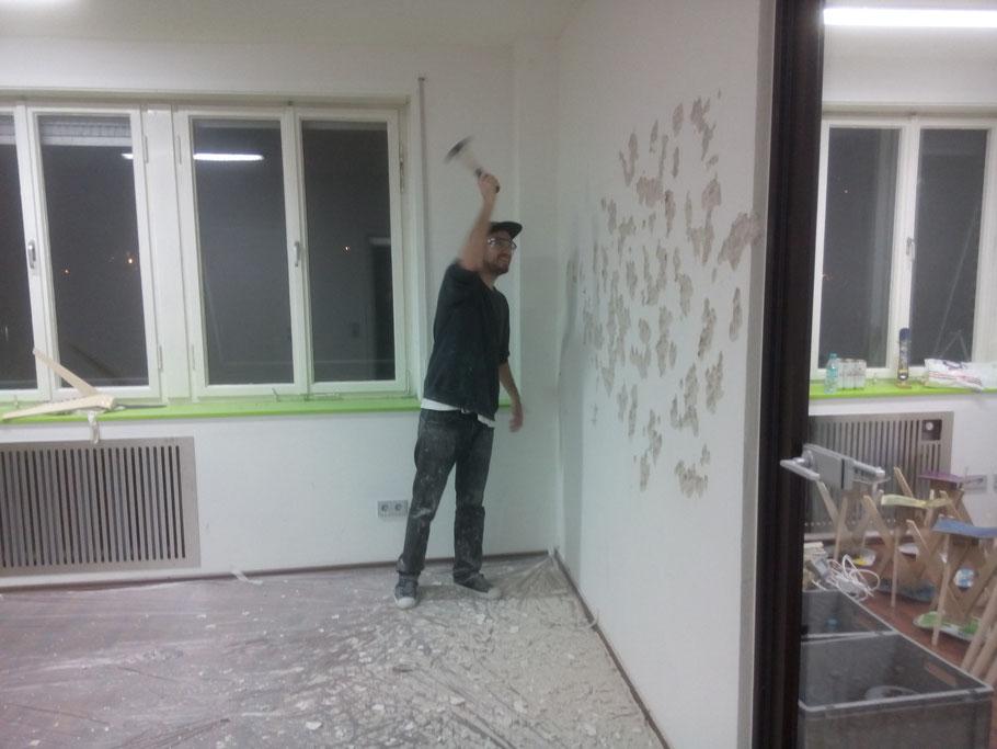 Alex doing the work
