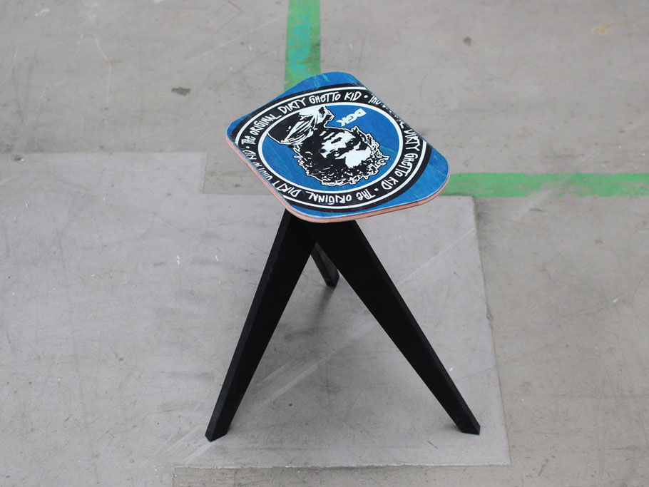 recycled skateboard chair