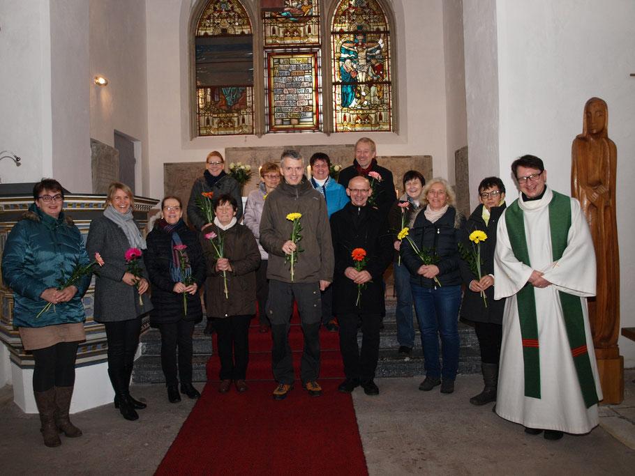 Einführung der Kirchenältesten am 17.11.2019 in der Kreuzkirche.