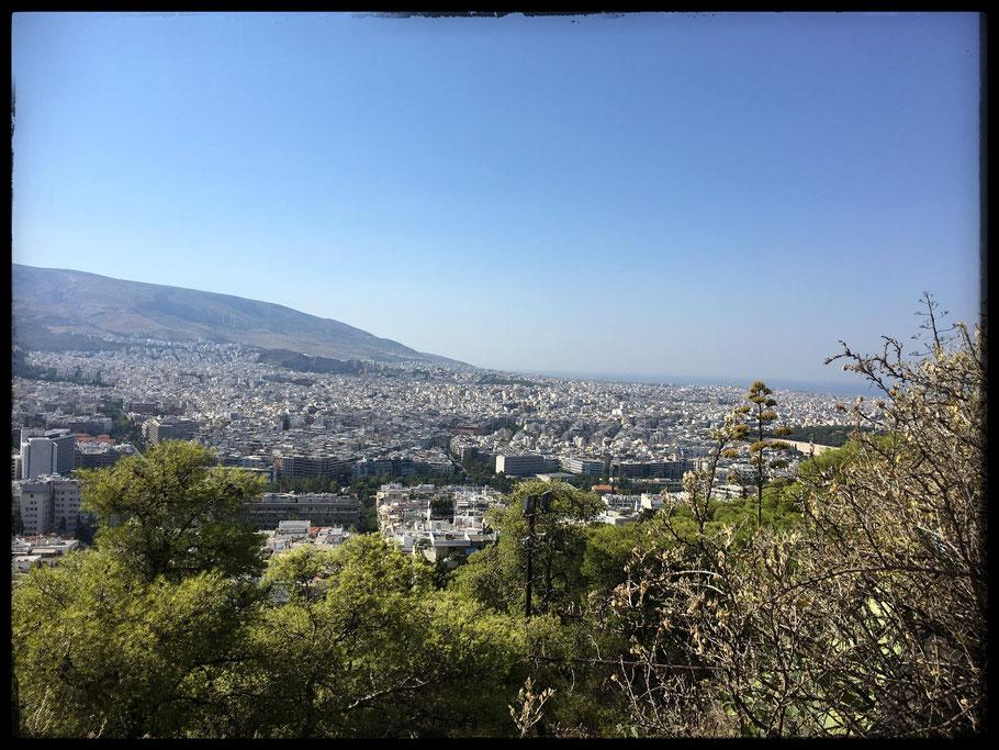 Athen: Sicht über einen kleinen Teil der Stadt