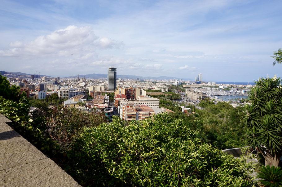 Ausblick vom Montjuic – Barcelonas Hausberg
