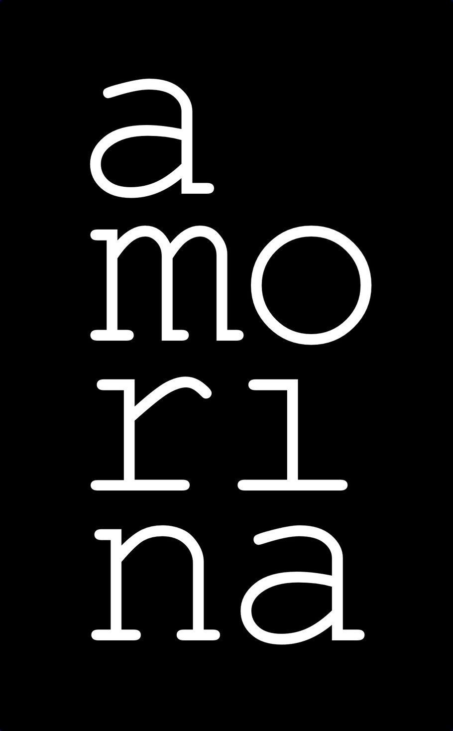 Amorina Logo Schwarz // 1240×2000
