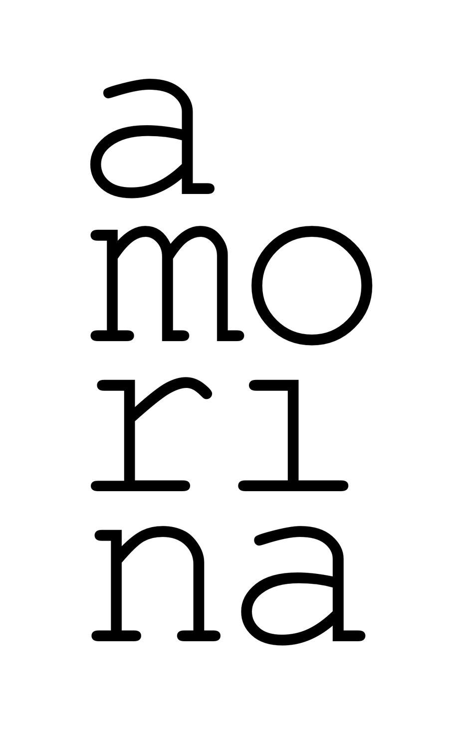 Amorina Logo Weiss // 1240×2000
