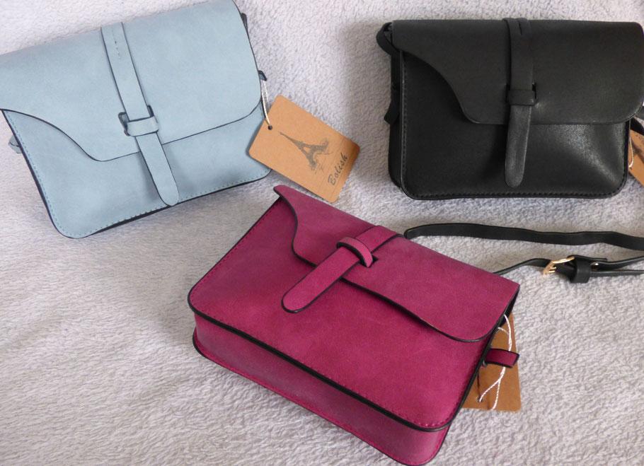 mini sac fashion Violet, pourpre, gris ou noir des sac à main pas cher en suedine pour femme