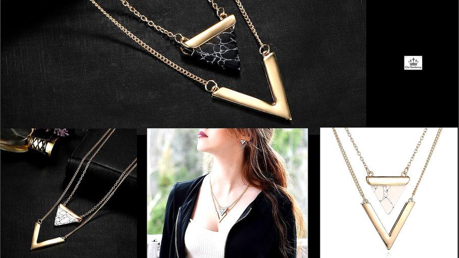collier femme chaine et pendentifs chic et Tendance pour Elle