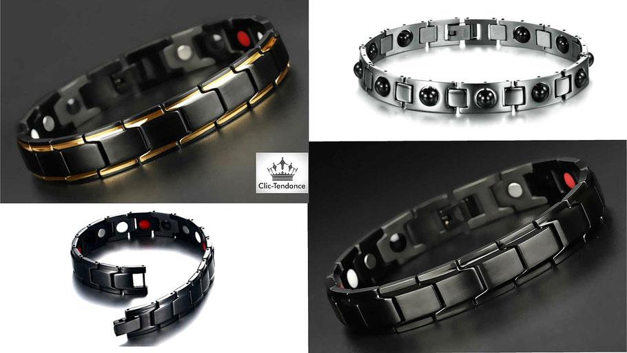 bracelet santé magnetique homme Acier