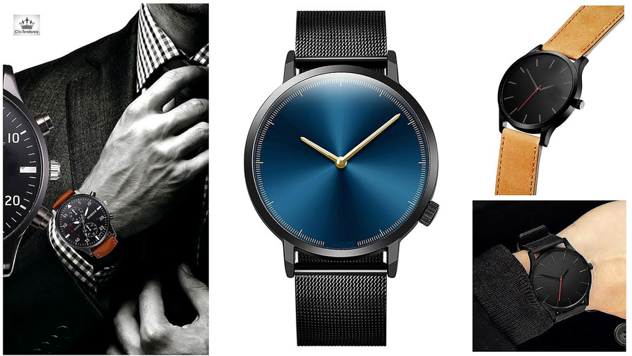 Montre homme de luxe et de marque pas cher. Le Luxe à votre Poignet  Horlogerie Clic-Tendance f37a7a7d91f0