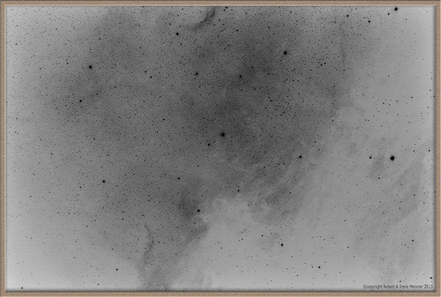 NGC 7000 Northamerica Nebula inverted image - NGC 7000 Nordamerikanebel invertierte Aufnahme MeixnerObservatorium