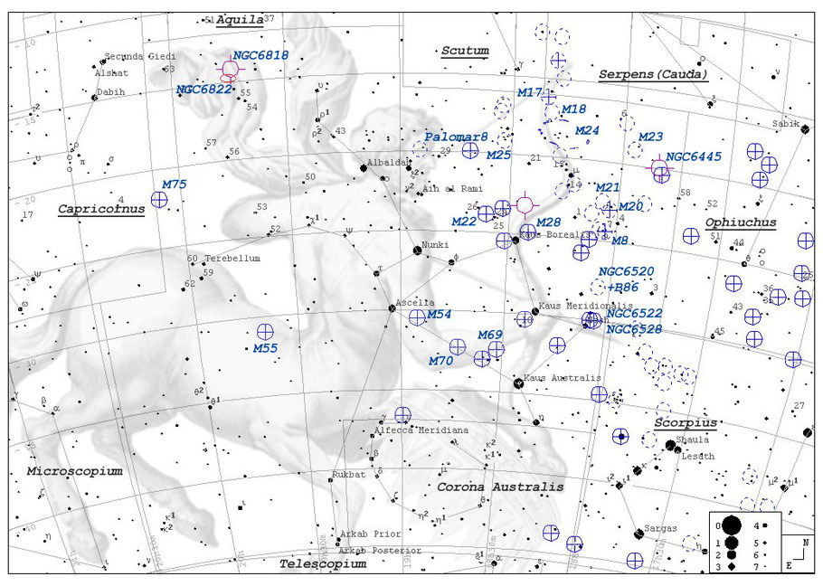 Finderchart - Messier 20 Trifidnebula / Aufsuchkarte M 20 Trifidnebel  MeixnerObservatorium