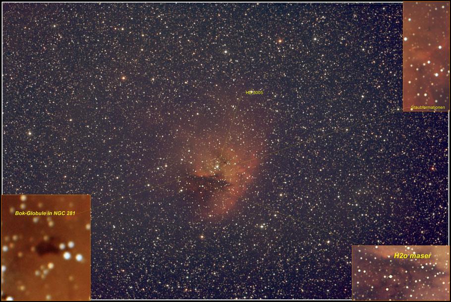 NGC 281 Details  - MeixnerObservatorium