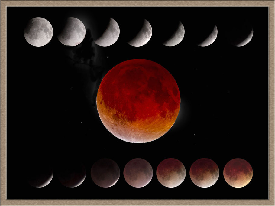 Mooneclipse from 15.6.2011, Mondfinsternis vom 15.6.2011 Skywatcher ED 80 & Canon 1000 Da - Photoshop-Composite MeixnerObservatorium