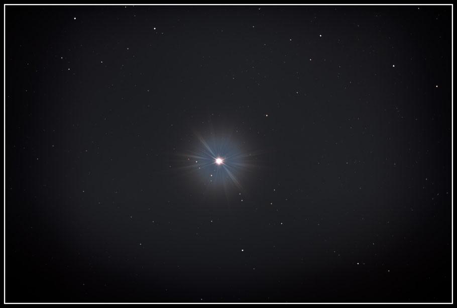 Sirius; auch: α Canis Majoris  - MeixnerObservatorium