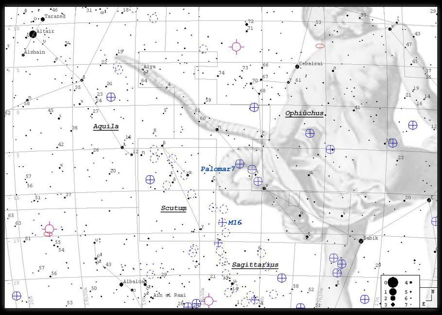 Finderchart M 16 / Aufsuchkarte M16
