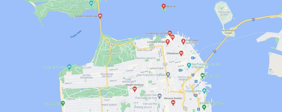 Highlights von San Francisco Tipps Roadtrip
