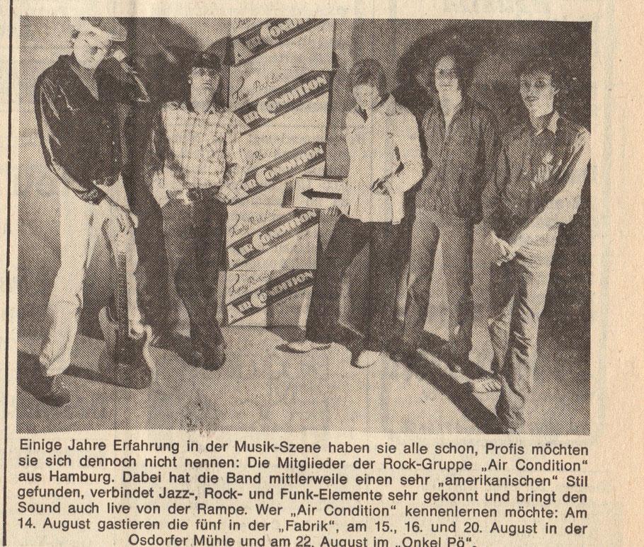 Original historische Pressmitteilung Bildzeitung ca. 1980-81