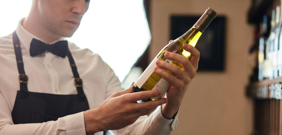 Appellation sur une bouteille de vin